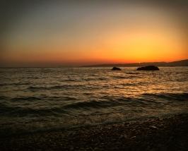 Sunset on Tosashimizu