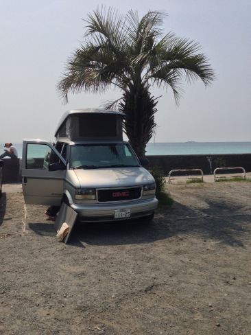 klaus the camper van in Shimoda